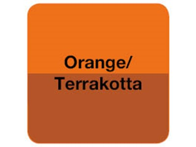 Orange/Terrakotta borddækning