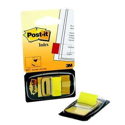 3M POST IT INDEXFANER GUL